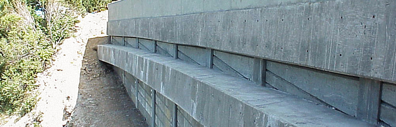 Sliding Retaining Wall : Bohlman road slide repair